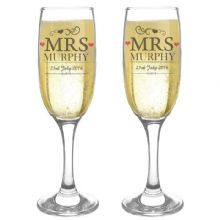 Mrs & Mrs Pair of Flutes